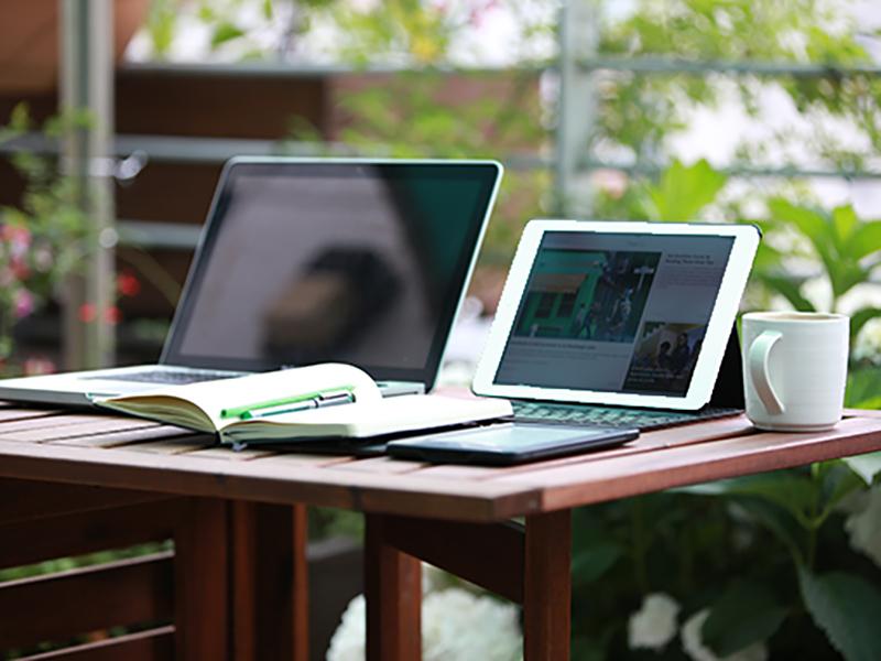 cloud werkplek op laptop